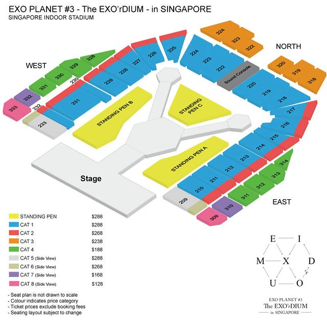 EXORDIUM in Singapore Seating Plan
