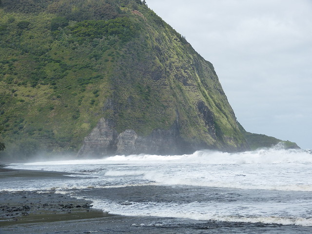 Waipio Valley black sand beach