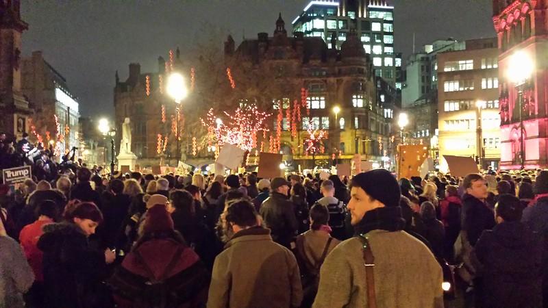 Muslim Ban demo, Manchester
