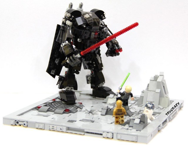 Mecha Vader & Luke Final Encounter