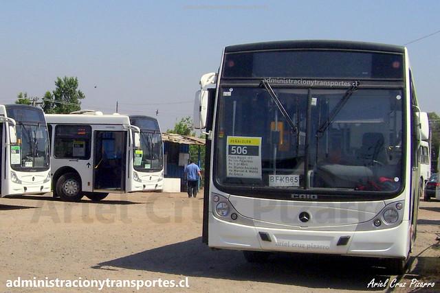 Transantiago 506 | Buses Metropolitana | Caio Mondego H - Mercedes Benz / BFKB65