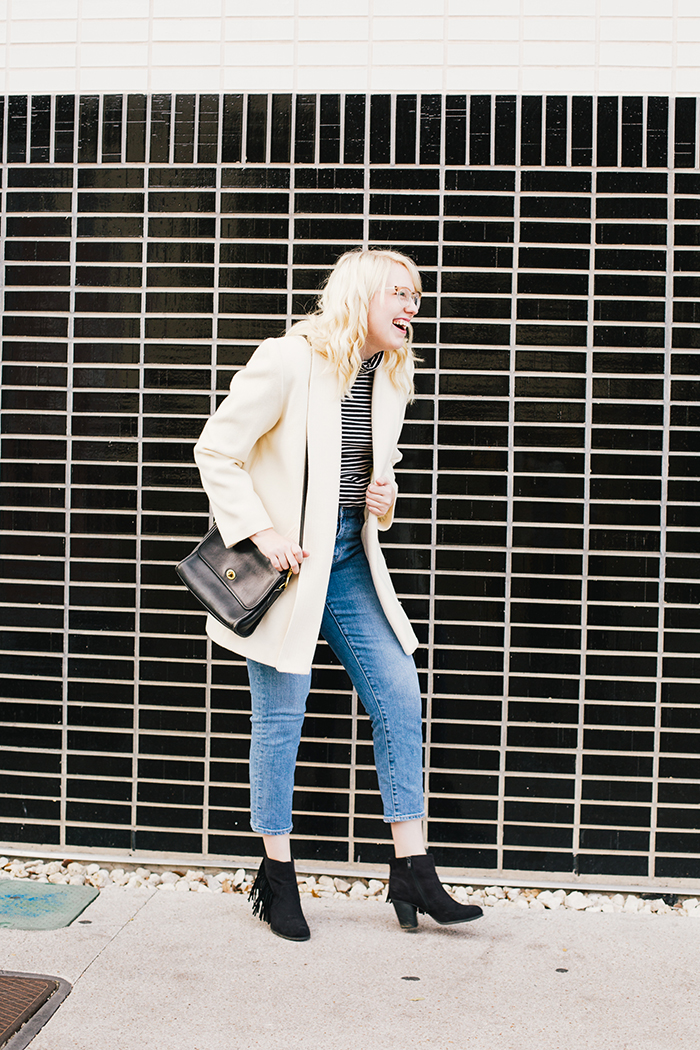 austin fashion blogger vintage white coat5
