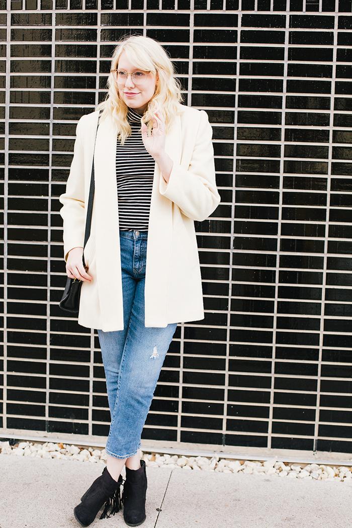 austin fashion blogger vintage white coat15