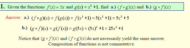 Composition of Functions-2