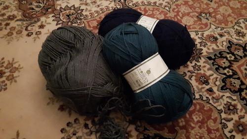 large balls of yarn