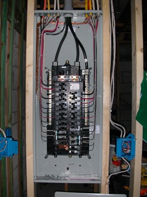 Electrical panel finished | Siemens 3040 150 ampere main