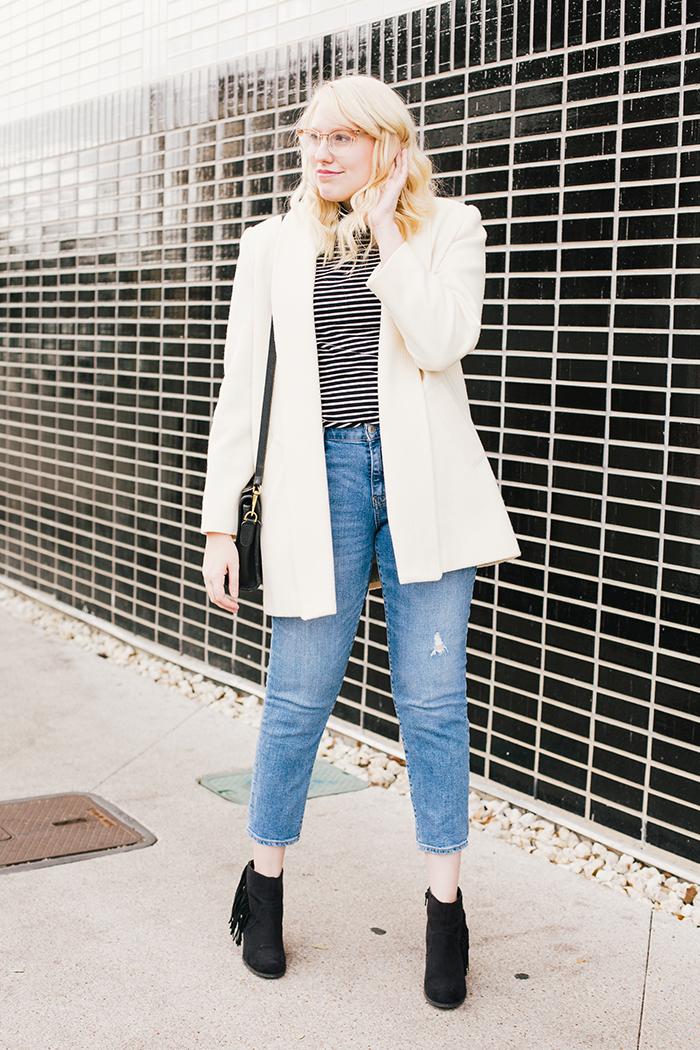 austin fashion blogger vintage white coat10