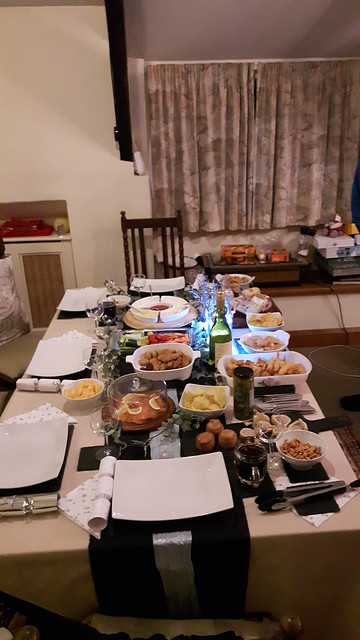 New Year's Buffet Spread