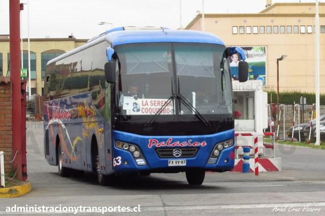 Buses Palacios | La Serena | Golden Dragon XML6137J13 / FXVV87