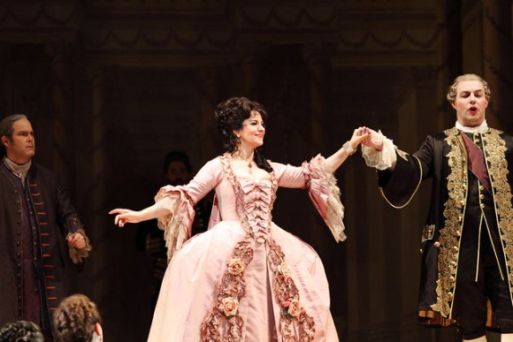 Gerald Finley, Angela Gheorghiu and Bálint Szabó in Adriana Lecouvreur, The Royal Opera © ROH 2017. Photo by Catherine Ashmore