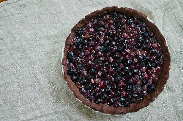 Chocolate Blueberry Pie