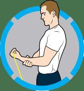 4⃣️ 彈力帶手腕屈伸運動