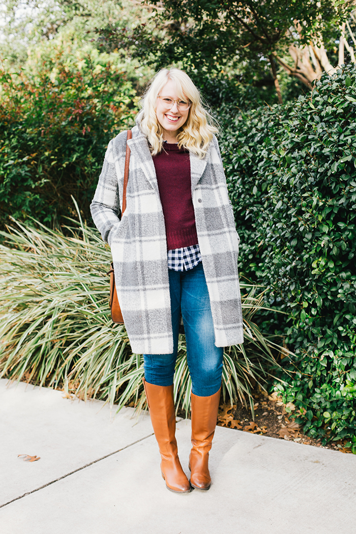 austin style blogger gingham winter outfit7