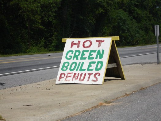 Hot Green Boiled Penuts (Peanuts), Bama Nut Shop, Brundidge AL