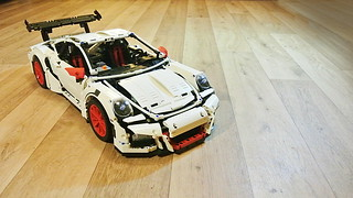 Motorized Decool 3368 Porsche 911 GT3 RS (White)