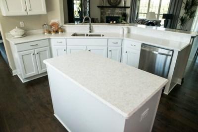 Corian® Quartz (formerly Zodiaq®) Stratus White   Kitchen ...