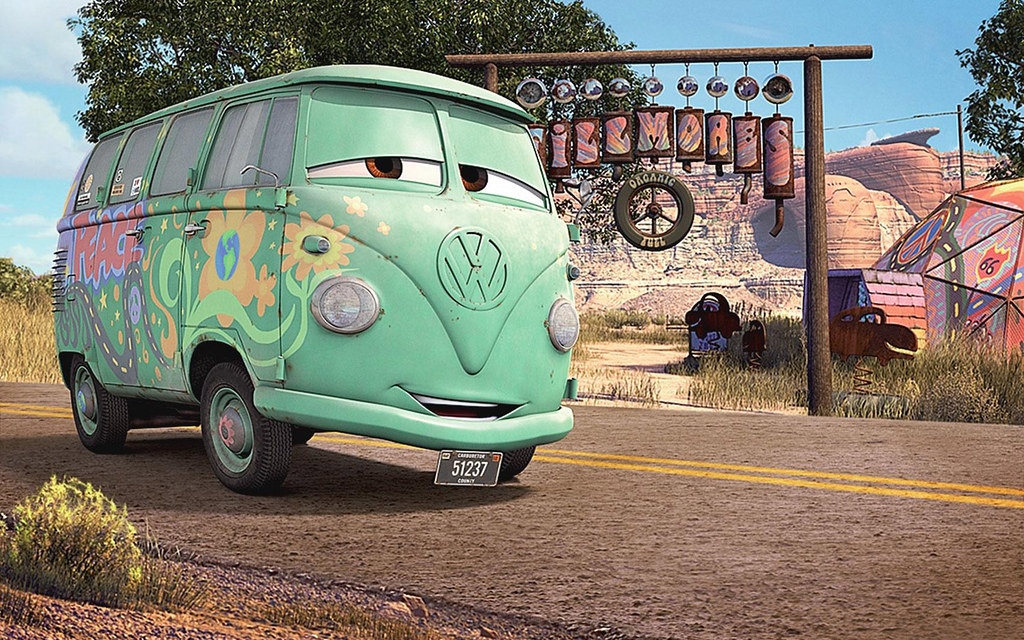 Cars  Fillmore a 1960 VW Bus    Graphic Art from Cars the mo      Flickr     Cars  Fillmore a 1960 VW Bus    by rndy s game graphx