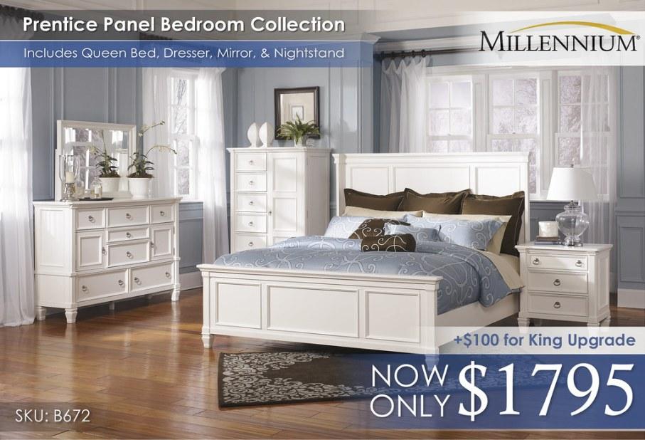 Prentice Panel Bedroom Set B672-31-36-48-58-56-97-93