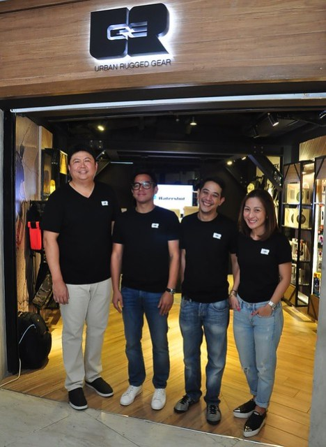 URGe  Urban Rugged Gear Founders Anthony Kierulf, Jay Tengco, Jaycee Dee and Joanne Tengco