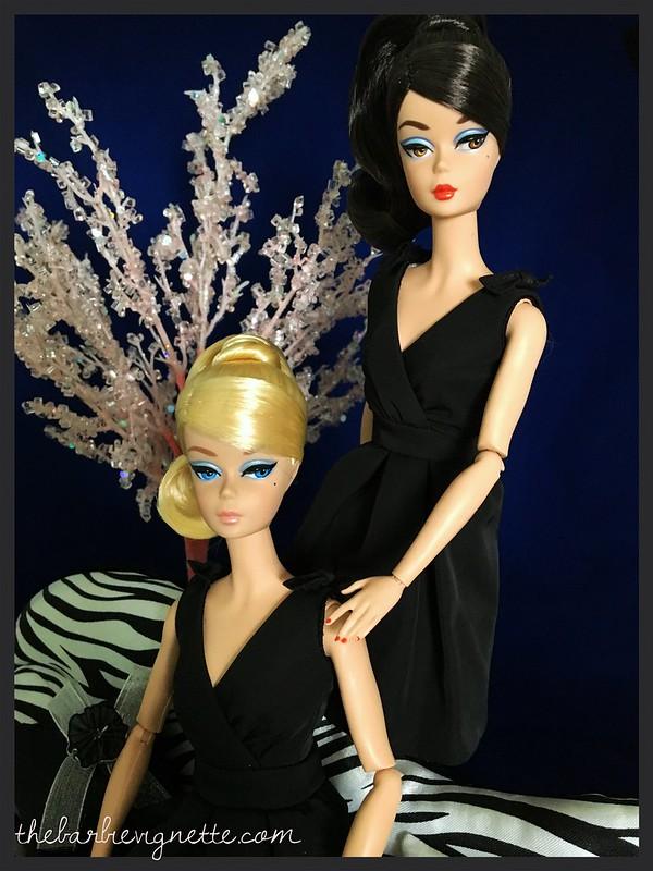 Classic black dress barbie doll