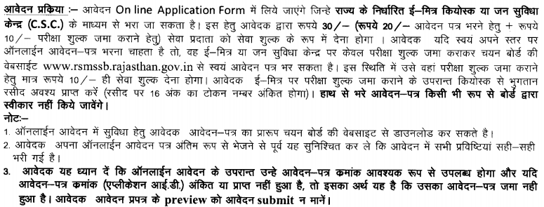 Rajasthan Patwari Recruitment Application