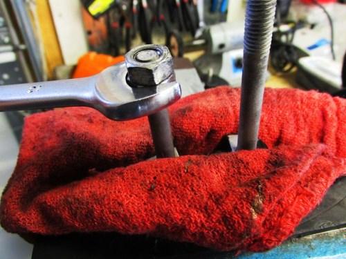 Removing Handlebar Clamp Studs