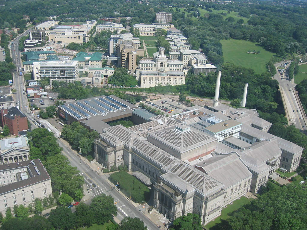 View Of CMU And The Carnegie Museums From The Cathedral Of