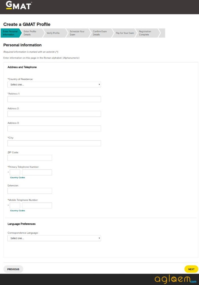 GMAT 2018 Registration Form