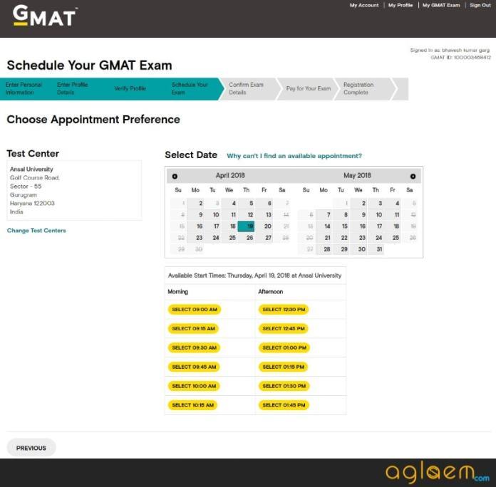GMAT 2018 Exam Dates