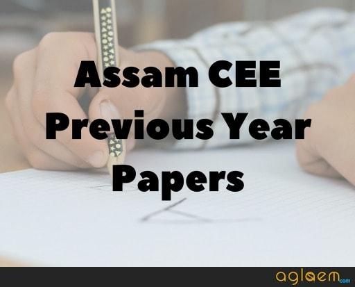 Assam CEE 2018 Answer Key