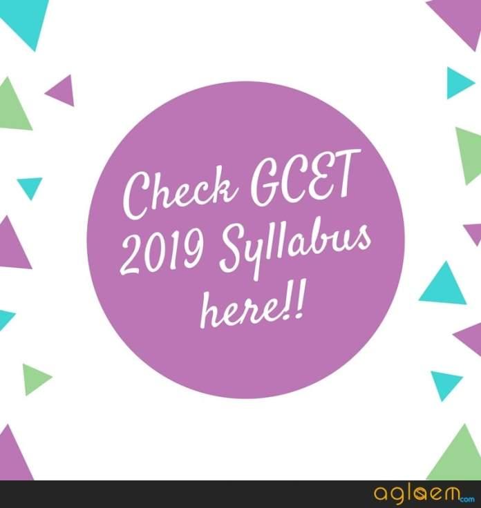 GCET 2019 Syllabus