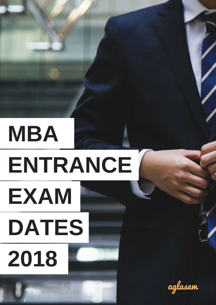MBA Entrance Exam 2018 Dates