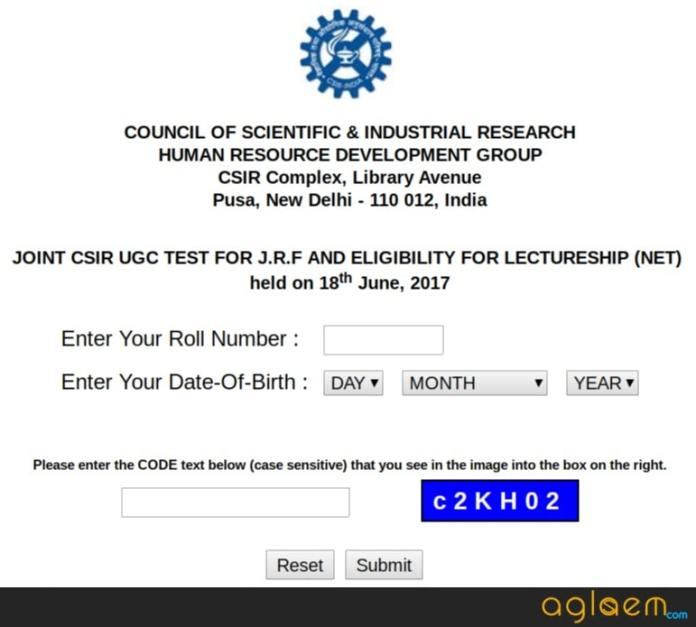 CSIR NET December Result 2017