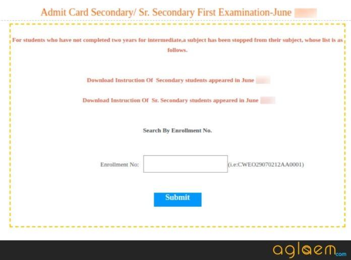 BBOSE 12th Admit Card June 2018