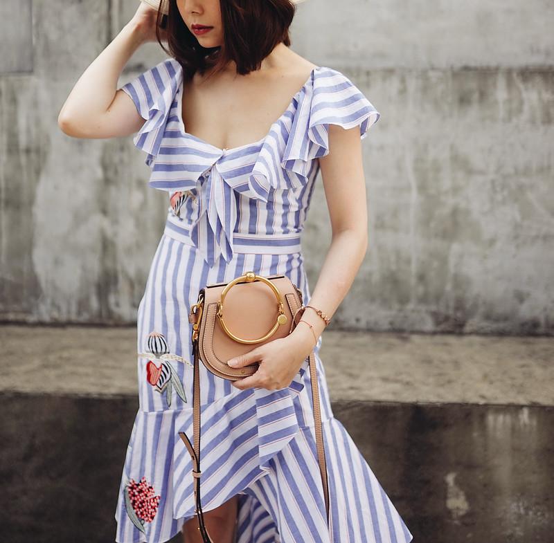 ▌Outfit ▌Temperley London:英式古典的甜美,一件曲線升級的必備印花洋裝