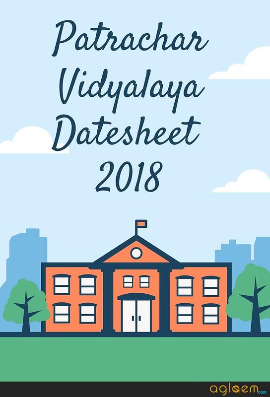 Patrachar Vidyalaya 9th Date Sheet 2018