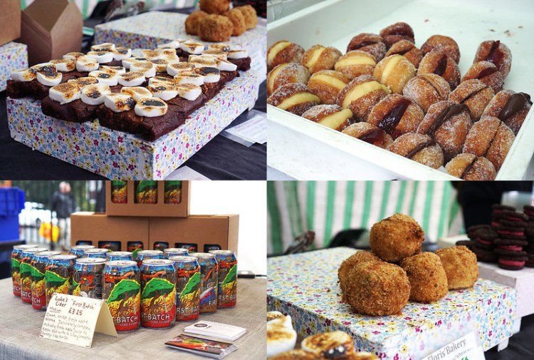 Gluten free doughnuts, smores brownies and scotch eggs from Floris Bakery + Luke's Cider | Stroud Green Market | Finsbury Park | North London | My gluten free Finsbury Park guide