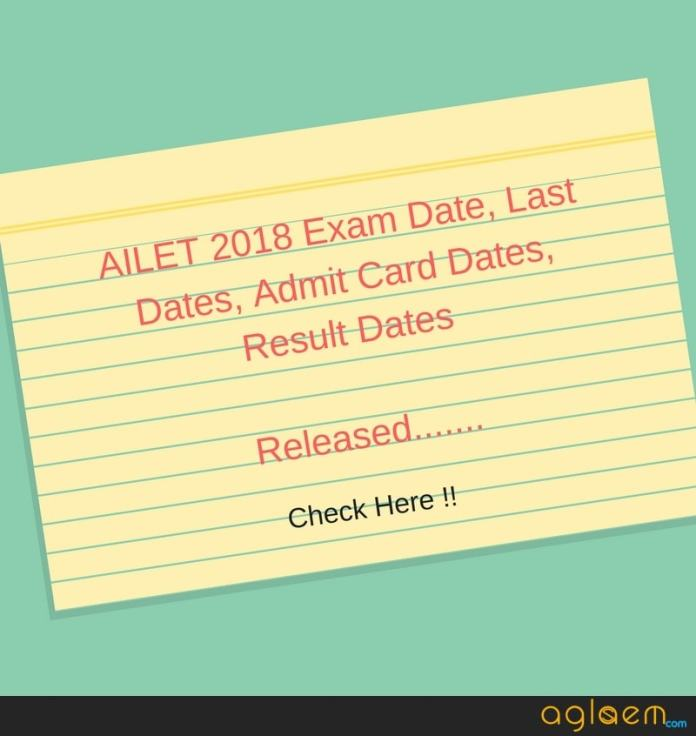 AILET 2018 Exam Date, Last Dates, Admit Card Date, Result Date