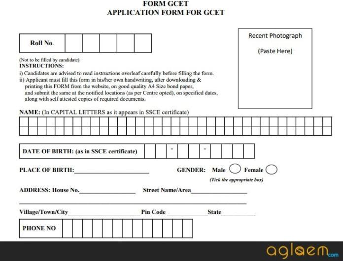 GCET 2019 Application Form