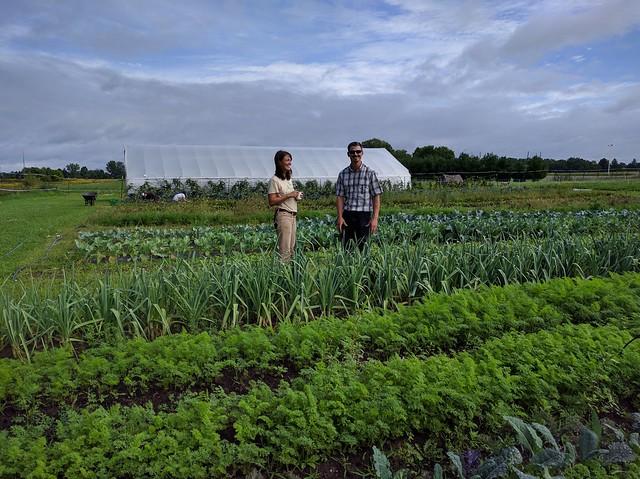 Sarah Longstreth and local FSA Farm Loan Officer Joseph Johnston