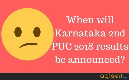 Karnataka 2nd PUC Result 2018 Date