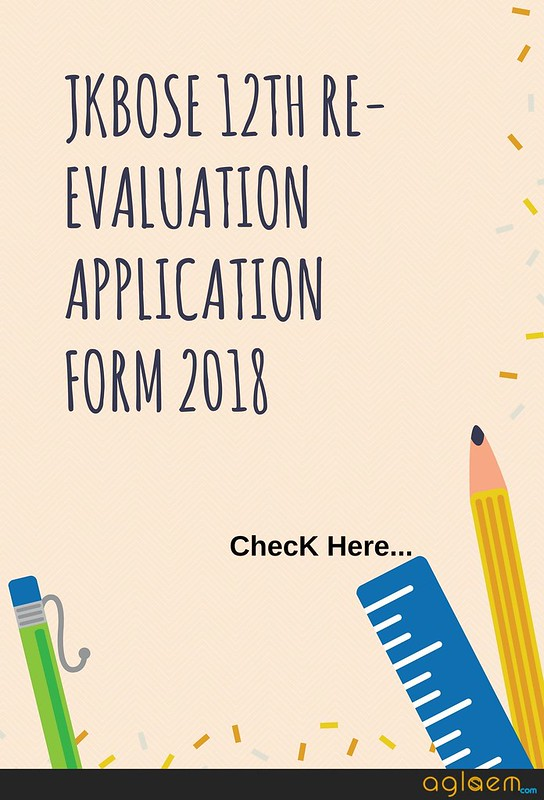 JKBOSE 12th Re-evaluation Application Form 2018