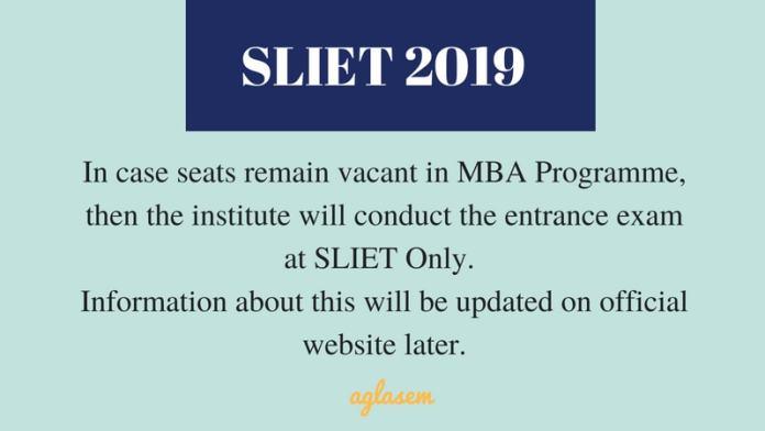 SLIET SET MBA 2019