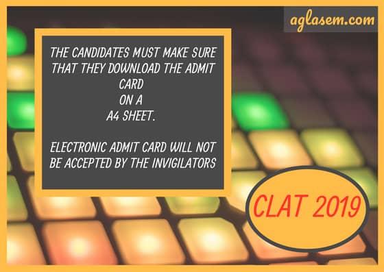 CLAT 2019 Admit Card