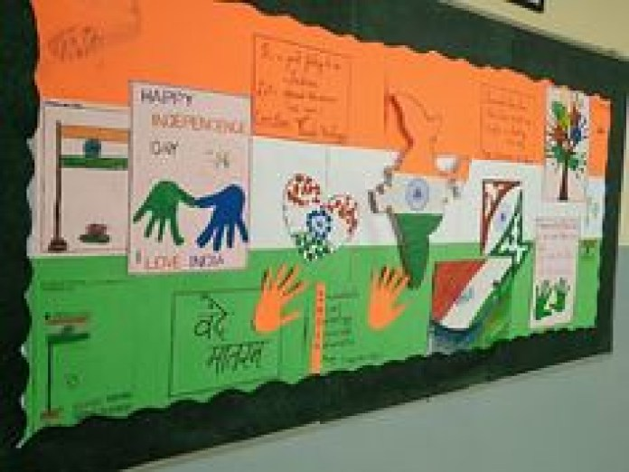 soft board decoration for independence day