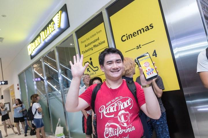 Mr Lee Qiu Wei is an ardent Golden Village Movie Club member. Photo: Golden Village