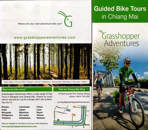 Brochure Grasshopper Adventures Chiang Mai Thailand 1