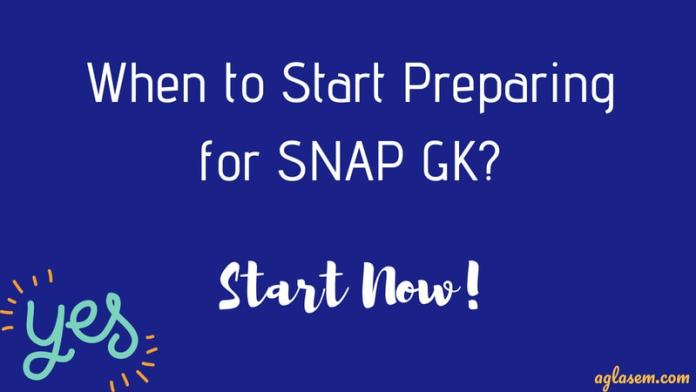 SNAP GK preparation
