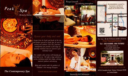 Brochure Peak Spa Chiang Mai Thailand 2