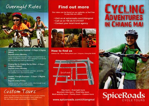 Brochure SpiceRoads Cycle Tours Chiang Mai Thailand 1